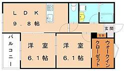 キミエ福津レジデンス[2階]の間取り
