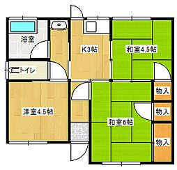 [一戸建] 愛媛県新居浜市若水町1丁目 の賃貸【/】の間取り