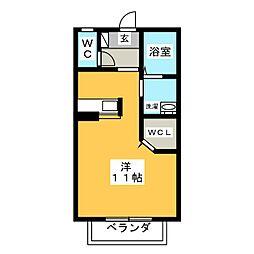 ジュネス幸・II[2階]の間取り