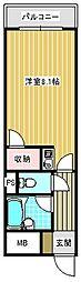 エスポワール御崎[501号室]の間取り