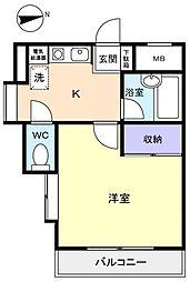 パルコート大和田[2階]の間取り