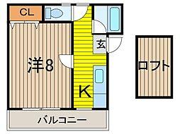 パレスイーグル[1階]の間取り