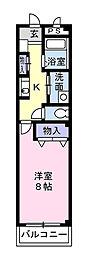 神奈川県大和市上和田の賃貸マンションの間取り