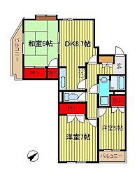 メゾン・ラポームII[304号室]の間取り