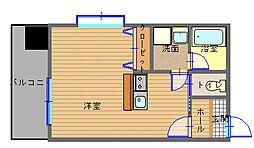 長崎県長崎市金屋町の賃貸マンションの間取り