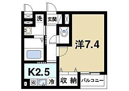 奈良県奈良市南城戸町の賃貸アパートの間取り