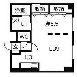 インフィル24[3階]の間取り