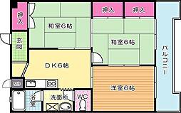 コーポ社ノ木[301号室]の間取り