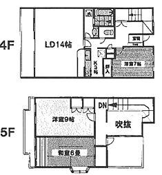 久喜東マンション[4階]の間取り