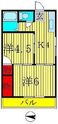 第二メゾン若竹[2階]の間取り