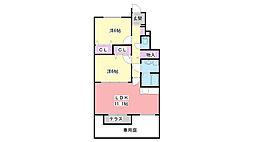 兵庫県三木市平田の賃貸アパートの間取り