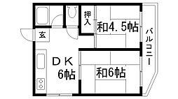 兵庫県神戸市兵庫区上庄通2丁目の賃貸マンションの間取り
