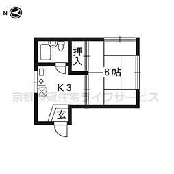 大竹マンション[302号室]の間取り