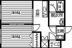 スリーピース2006[3B号室]の間取り