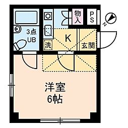 イリス三田[3階]の間取り