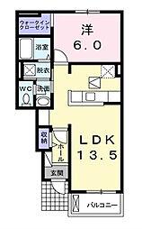 コズカイリーデI[1階]の間取り