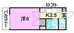 メゾン・ドゥ・アミ[205 号室号室]の間取り