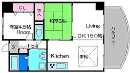 ロイヤルファミリー都古邸[8階]の間取り