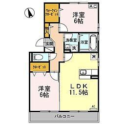 サンガーデニア A棟[2階]の間取り