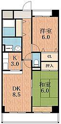 サンシャインプレセットハウス[6階]の間取り