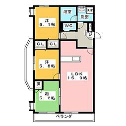 Life Mezon 安東[2階]の間取り