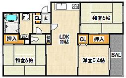 兵庫県神戸市兵庫区平野町の賃貸マンションの間取り