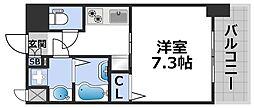 ワールドアイ大阪ドームシティ 11階1Kの間取り