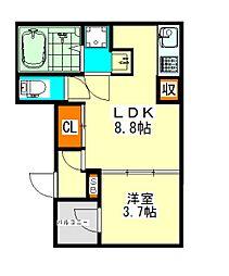 ハーモニーテラス二番VII(ハーモニーテラスニバンセブン)[3階]の間取り