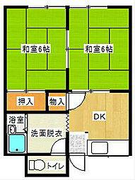 福岡県中間市扇ヶ浦2丁目の賃貸アパートの間取り