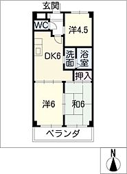 サン花塚[2階]の間取り