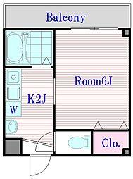 ビゴルノー[2階]の間取り