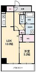 JR高徳線 栗林公園北口駅 徒歩6分の賃貸マンション 6階1LDKの間取り