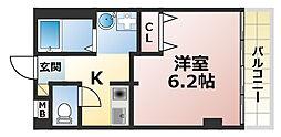 ラムール六甲山ノ手[2階]の間取り