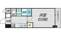 フレアコート梅田 9階1Kの間取り