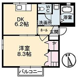 ホープS B棟[1階]の間取り