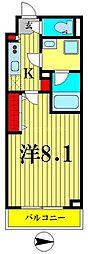東京メトロ半蔵門線 住吉駅 徒歩5分の賃貸マンション 4階1Kの間取り