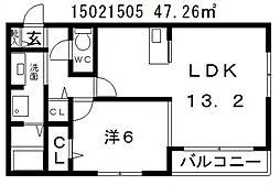 ハイムマモリ[1階]の間取り