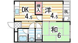 メゾン三栄[303号室]の間取り