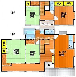 [一戸建] 岡山県岡山市北区東古松2丁目 の賃貸【/】の間取り