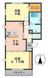 東京都江戸川区北小岩2丁目の賃貸アパートの間取り