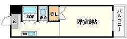 奥内阿波座駅前マンション[7階]の間取り