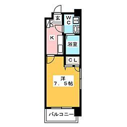 アクアシティ大博通り[4階]の間取り