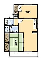 池田ファミリーゼーション[E101号室]の間取り