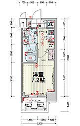 クレアートアドバンス北大阪[306号室]の間取り