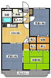 アイディアルノーブル[5階]の間取り