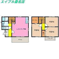 三重県桑名市福島新町の賃貸マンションの間取り