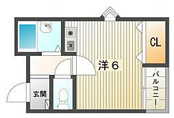 ソル・レヴェンテ2[2階]の間取り