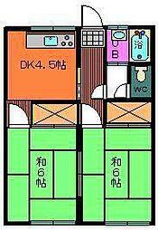 長浜コーポ[205号室]の間取り