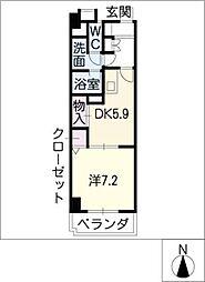 ベル ドミィール[3階]の間取り