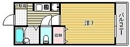 大阪府高槻市富田町4丁目の賃貸アパートの間取り